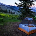Alta Meadow has plenty of room for backcountry campers, though some sites have better views than others.- Alta Peak