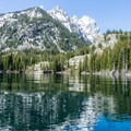 Heading back to the boat dock.- Jenny Lake Boat Tour