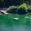 The quarry also includes a designated swimming area. It is perfect spot for cooling off after a day of exploring the Knoxville Urban Wilderness Trails!- Mead's Quarry