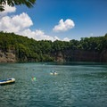In 2013, swimming was made legal in the quarry.- Fork Dickerson Quarry