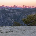Sunset on El Capitan.- North Rim Hike: Big Oak Flat Road to Mirror Lake