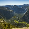 View from the top of Yosemite Falls.- North Rim Hike: Big Oak Flat Road to Mirror Lake