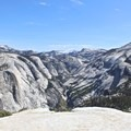 View from the top of the Sub-Dome.- Half Dome via Mist Trail
