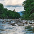 East branch of the Pemigewasset River.- Lady's Bathtub Swimming Area