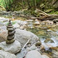 A cairn along the river.- 20 Foot Hole