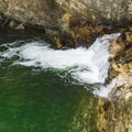 A tiny waterfall at a third pool downstream. - 20 Foot Hole