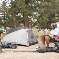 Each site has a nice level tent site.- Mammoth Campground