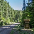 The trailhead starts at the Skookum Creek Campground.- Erma Bell Lakes