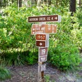 Signs along Forest Service Road 19.- Erma Bell Lakes