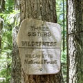 Skookum Creek Campground is located in the Three Sisters Wilderness.- Skookum Creek Campground