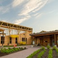 The newly-constructed visitor center. - Five Rivers Environmental Education Center