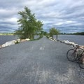 A view south from the Colchester Causeway.- Burlington Bike Path