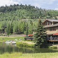 The Park City Grocery and Cafe has a prime location. Enjoy the patio as your friends play below.- Deer Valley Ponds