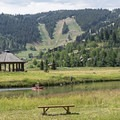Deer Valley Ski Resort in the background.- Deer Valley Ponds