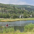 Kayaks and SUPs can be rented at the beach.- Deer Valley Ponds
