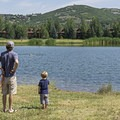 Dogs love this place.- Deer Valley Ponds Loop