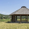 Pavilion with picnic tables.- Deer Valley Ponds Loop