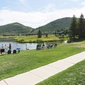 From the small beach area you head out on the paved trail to the right.- Deer Valley Ponds Loop