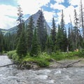 The confluence of Reynolds Creek and Siyeh Creek.- Siyeh Creek to St. Mary's Lake via Reynolds Creek