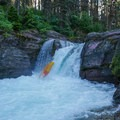 The hole on Deadwood Falls can pack a punch.- Siyeh Creek to St. Mary's Lake via Reynolds Creek