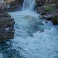 Another view of St. Mary's Falls. St Mary's Falls, a Class V-VI drop.- Siyeh Creek to St. Mary's Lake via Reynolds Creek