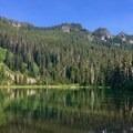Hunts Lake.- Hunts Cove + Coyote Lake Loop