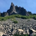 Intersting rock formations.- Hunts Cove + Coyote Lake Loop