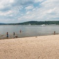 Peering across the water to the north.- Croton Point Beach