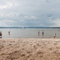 Swimming on Haverstraw Bay.- Croton Point Beach