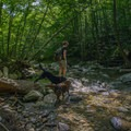 Cross Shepard Brook to kick off the trail.- Burnt Rock Mountain via Hedgehog Brook Trail