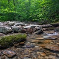 One of the many small brook crossings along the trail.- Burnt Rock Mountain via Hedgehog Brook Trail