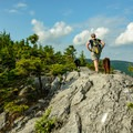 The last 0.2 miles to the summit is all on rock. Its advisable to avoid doing this hike in wet weather.- Burnt Rock Mountain via Hedgehog Brook Trail