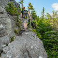 Natural trail features.- Burnt Rock Mountain via Hedgehog Brook Trail