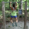 Pull up station on the fitness trail.- Leesylvania State Park
