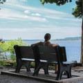 A relaxing spot to gaze out onto the Potomac River.- Leesylvania State Park