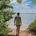 Secluded beach along the fitness trail.- Leesylvania State Park