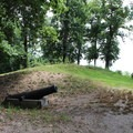 Old Confederate battery from the American Civil War.- Leesylvania State Park