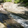 The top of the natural waterslide.- Whiteoak Canyon + Cedar Run Circuit