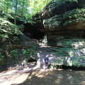 Rock formations on the Buckeye Trail.- Hocking Hills State Park