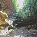 Standing below Old Man's Cave.- Hocking Hills State Park