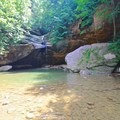 Swimming hole near Old Man's Cave.- Hocking Hills State Park