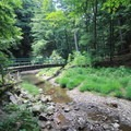 Small bridge crossing on the way to Cedar Falls.- Hocking Hills State Park
