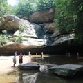 Cedar Falls and small swimming hole.- Hocking Hills State Park
