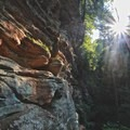 Standing outside the Rock House.- Hocking Hills State Park