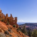 The Bryce rim is just a short walk from the North Campground.- North Campground