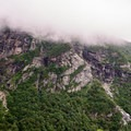 Large cliffs of Mount Mansfield.- Elephants Head via Long Trail North