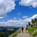 A wide trail makes this popular for groups and families.- Mount Washburn via Dunraven Pass