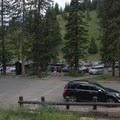 The Dunraven Pass parking lot is routinely full and causes a lot of overflow parking.- Mount Washburn via Dunraven Pass
