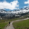 Snow covers peaks along the trail year round.- Tour Du Mont Blanc (TMB) Overview