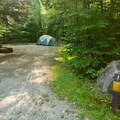 Typical campsite in Big Rock Campground.- Big Rock Campground